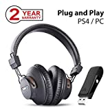 Avantree DG59 Wireless PS4 Gaming Headphones with Bluetooth USB Audio Transmitter Set