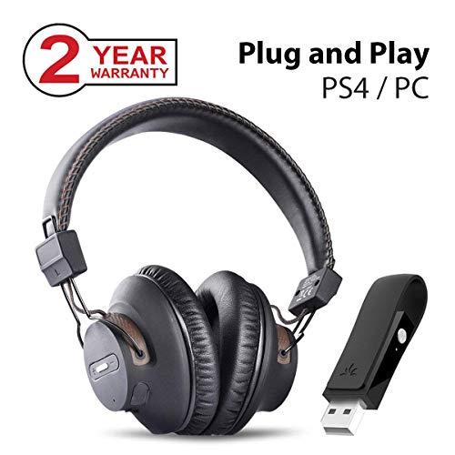 Avantree DG59 Auriculares Inalámbricos PS4 Gaming con Bluetooth USB Transmisor...
