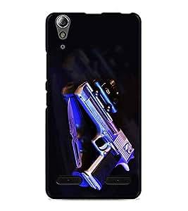 PrintDhaba Gun D-2033 Back Case Cover for LENOVO A6000 (Multi-Coloured)