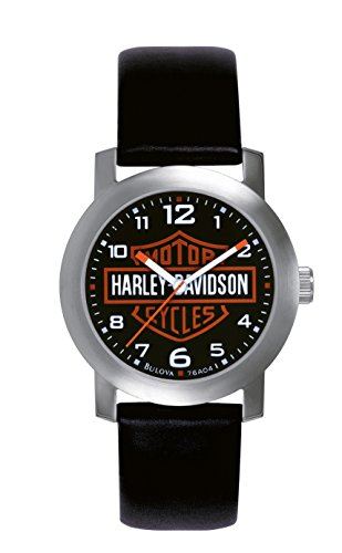 harley-davidson-mens-quartz-watch-with-black-dial-analogue-display-and-black-leather-strap-76a04