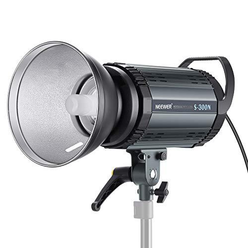 Neewer S300N Profi Studio Mondlicht Strobe Blitz Licht 300W 5600K mit Modellierung Lampe, Aluminium Legierung professionell Speedlite für Indoor Studio Lokationsmodell und Porträt Fotografie Foto Studio Strobe Light
