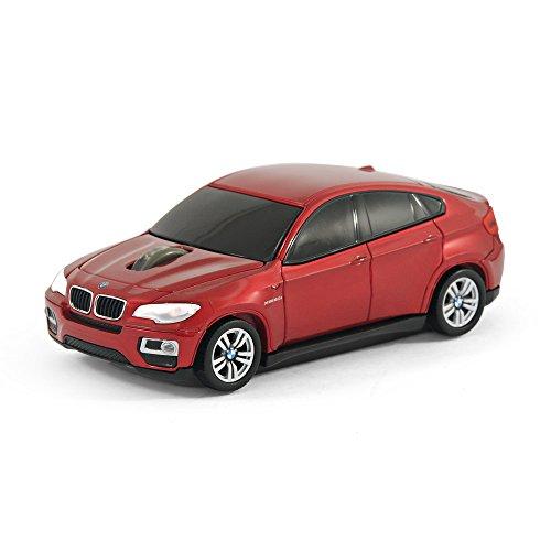 BMW X6 Wireless Auto-Mouse (Rosso) Senza fili ottico
