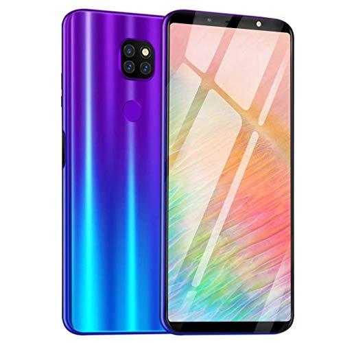 Huhu833 Smart Handys, Acht Kerne 6,1 Zoll Doppel HD Kamera Smartphone Android 8.1 IPS-Bildschirm 16GB Bluetooth GPS 4G WiFi intelligentes Mobiltelefon (Blau) 16 Gb Gps