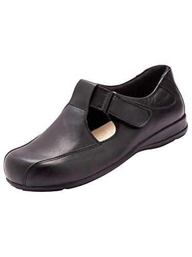 Pediconfort - Salomés ultra larges, spécial pieds sensibles Noir