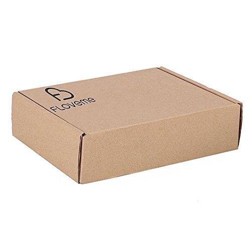 Floveme Abnehmbarer 2-in-1 Magnetic PU Leder Handy Hülle Handyhülle, Mit Mehreren Kartenfächern, Bargeldfach und Handgelenk Trageband, Kunstleder für 6S Schwarz