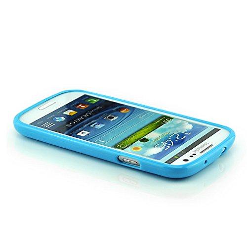 Saxonia Schutzhülle für Apple iPhone SE 5 5S Hülle Case Back Cover TPU Silikon mit Motiv Blume / Rosen-Rot Blau