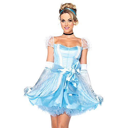 GGTBOUTIQUE Damen A-Linie Kleid blau blau Gr. L, ()
