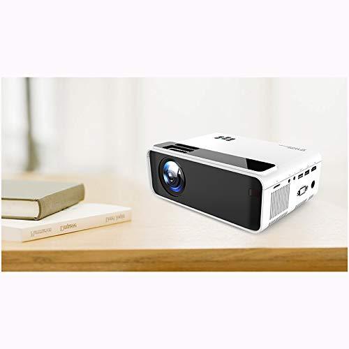 Link Co Mini tragbarer Projektor Drahtlose Bildschirmprojektion Unterstützt 1080P 2500 Lumen Kompatibel mit HDMI/VGA/AV/USB für Heimkino-Unterhaltung,White