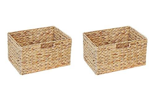 Ikea Billy Regal Korb 37 x 25 x 20 cm aus Wasserhyazinthe Natur Faltkorb Flechtkorb Regalbox Storage Box Aufbewahrungskorb Schrankkorb klappbar faltbar und sehr stabil 2er-Set Sparpreis - Regal Körbe