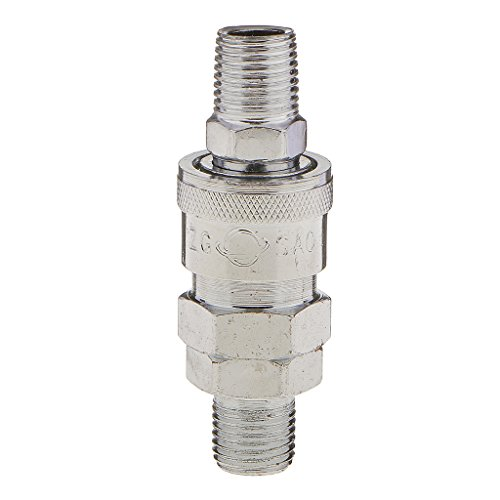 Generic SM20, PM20-1/4 BSP Aluminium Pneumatic Air Line Hose Quick Fittings Connector Coupler (One Size, Silver)
