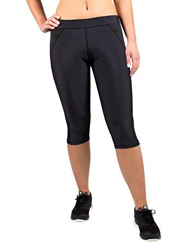 Gregster pantaloni da corsa a 3/4Donna Sport, colore: nero, Donna, Laufhose, nero, M