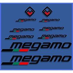 Ecoshirt QE-BJ2T-HQP8 Pegatinas Megamo Fram Dr1117 Vinilo Adesivi Decal Aufkleber Клей MTB Stickers Bike, Negro