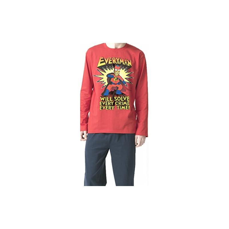 e418a07901 Pijama HOMER SIMPSON Adulto EVERYMAN Rojo - Compra pijamas y ...