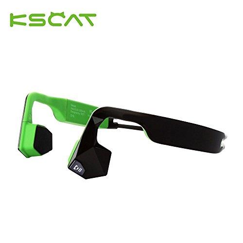 Auricolare bluetooth 4.1 kscat bone conduction cuffie audio nice5 sport aptx bluetooth a conduzione ossea per attività sportiva con microfono ipx6 impermeabile wireless verde