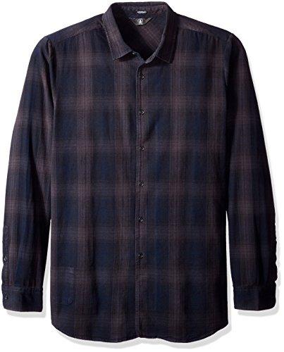 Camicia di flanella navetta a maniche lunghe da uomo Volcom, azione furtiva, S, A0531615STH