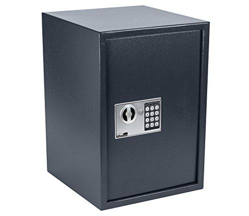 OfficeForce Wandtresor 500 mit digitalem Zahlenschloss/Codeschloss, Safe, Tresor, Geldschrank,...