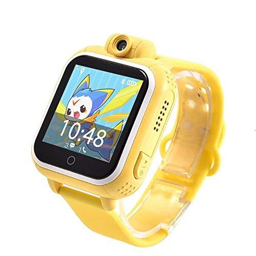 SIRI Smart Touch Screen Yellow - kids smart watch 3G watch GPS high quality silicone smartwatch