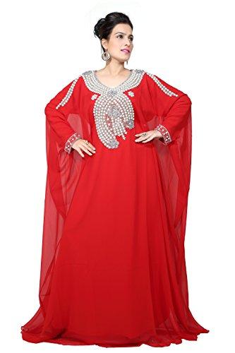 Bedi'S Uae Style Women'S Farasha Maxi Arabisches Islamisches Kaftan Langes Kleid - Eine Grösse (Satin Kaftan)