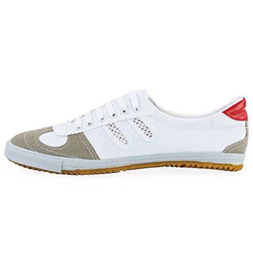 wu designs Shuang Xing Sneaker - Kampfkunst Sport Parkour Wushu Schuhe Weiss 39