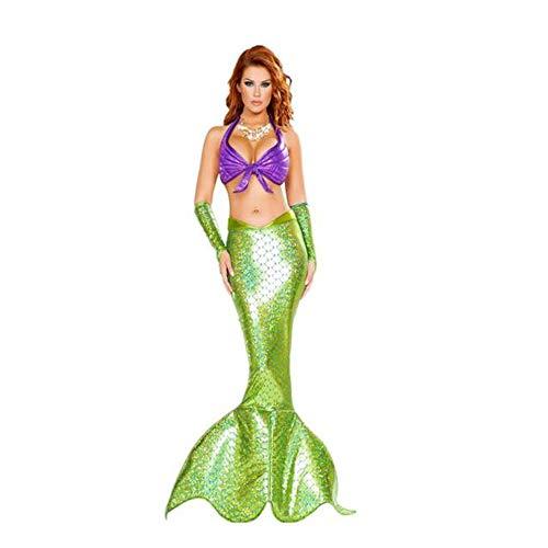 Für Erwachsene Pailletten Meerjungfrau Kostüm Kleid - TUWEN Party Cosplay KostüM Erwachsene Bikini Meerjungfrau KostüM Meerjungfrau Prinzessin Pailletten Kleid