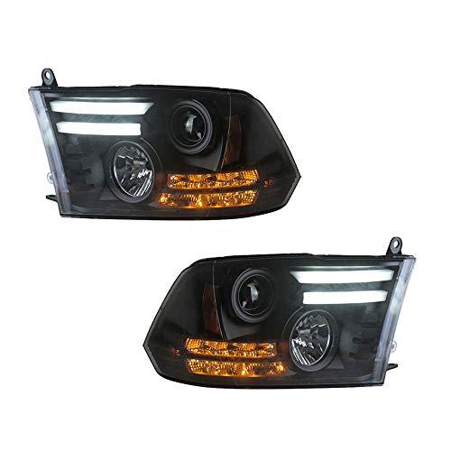 2 Stück Scheinwerfer für Ram 2013-2015 Bi-Xenon Linse Projektor Doppellicht Xenon HID Kit mit LED Tagfahrlicht