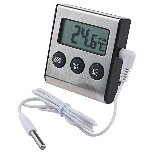 Termometro digitale per frigorifero con avviso di temperatura bassa o alta e funzione di temperatura massima e minima