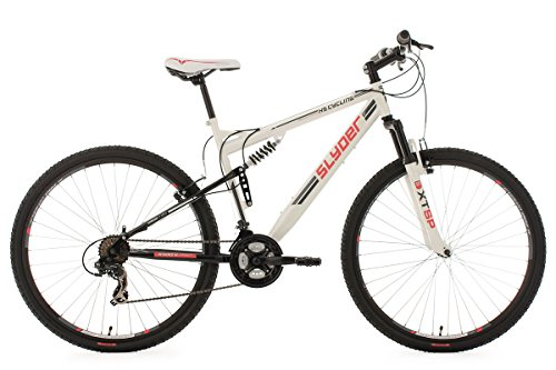KS Cycling Slyder VTT tout suspendu 29' Blanc TC 51 cm