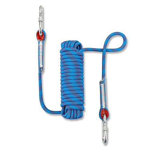 NIECOR Statisches Kletterseil für den Außenbereich, 10 mm, hochfestes Zubehör, Brandfluchtsicherung, Rappelling Seil, 81,3 m, 49ft, 64ft, 244 ft, blau, 15m(49ft) -