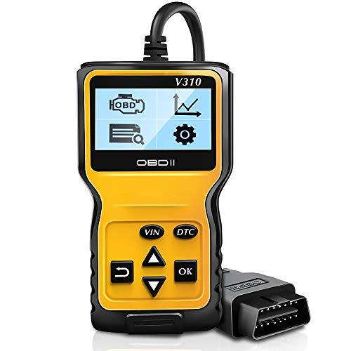 NWOUIIAY OBD2 Auto Diagnosegerät Auto OBDII Diagnosescanner Universal Diagnose Scan Werkzeug mit 16-Pin OBDII-Schnittstelle für Lesen und Löschen Fehlercode und Batterie Test