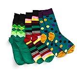 CHEEKY BUSINESS Bunte Socken (Größe 41-44): 3er-Set Baumwollsocken mit verschiedenen Mustern für Herren und Damen