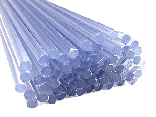 Kunststoffschweißdraht PVC-U Hart 4mm Rund Transparent 25 Stäbe