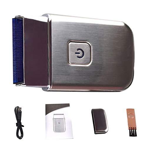 Akku-Rasierer mit ausklappbarem USB-Stecker und ultradünnem Scherkopf, Schnellladung Elektrorasierer in hochwertiger Geschenkverpackung - ideal für unterwegs - Colinsa