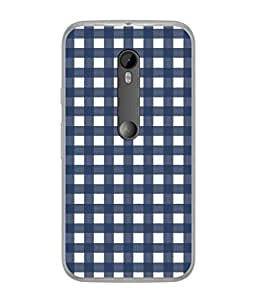 PrintVisa Designer Back Case Cover for Motorola Moto G3 :: Motorola Moto G (3rd Gen) :: Motorola Moto G3 Dual SIM (Square Check Matty Cross Block Plain)