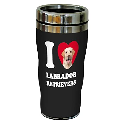 Tree-Free Greetings SG25076 I Heart Labrador Retrievers Sip 'N Go Stainless Lined Travel Tumbler, 16-Ounce,