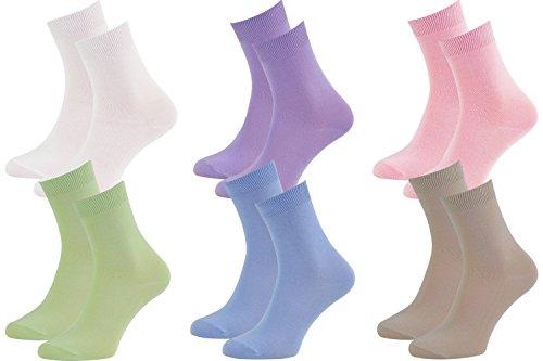 6 Paar Bambussocken für jeden Tag, Business-Socken zart für die Füße, Antibakteriell, Atmend, weich und Bequem, Violett Rosa, Größen 39-41, Zertifikat Öko-Tex, Herstellung in Europa