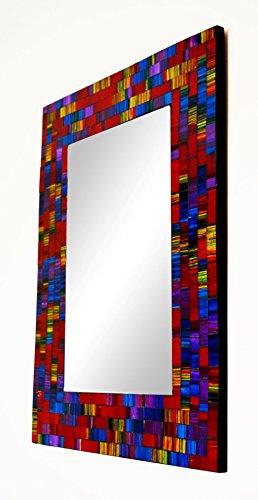 Piquaboo Large Geometric Mosaic Spectrum Wall Mirror 40x30 cm (Mosaic)