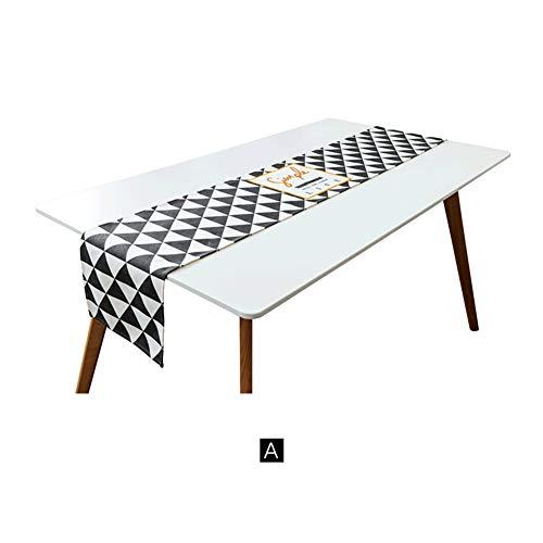 Nordique Tissu Nappe Drapeau Coton et Tissu Lin Table Minimaliste Moderne café Meuble TV Couvrent Serviette-A 30x160cm(12x63inch)