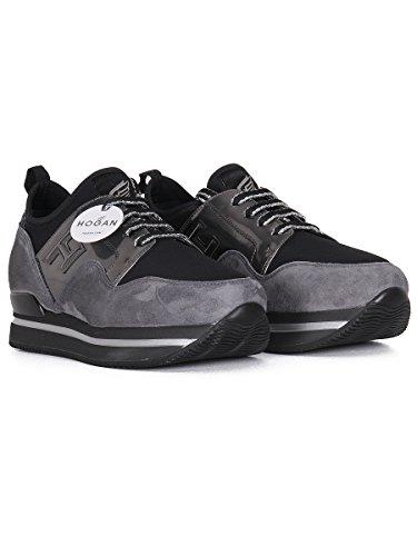 Sneakers H222 donna-35 Nero Grigio
