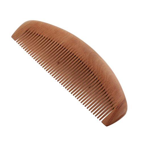 MagiDeal Haarkamm Taschenkamm Holzkamm. Keine Statische zum Entwirren von lange Haare für Haarpflege Kopfmassage. Premium Geschenk für Damen Herren - feine Zähne - Topische Reiben