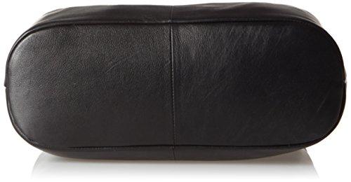BREE Damen Jersey Schultertasche, Schwarz (Black), One Size Schwarz (Black)
