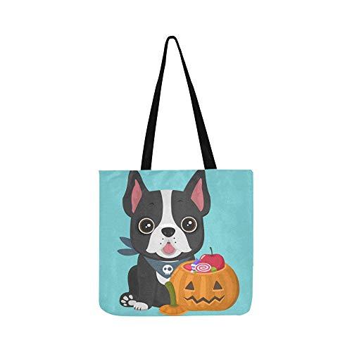 Hunderasse französische Bulldogge in der Nähe von Puppy Canvas Tote Handtasche Schultertasche Crossbody Taschen Geldbörsen für Männer und Frauen Einkaufstasche -