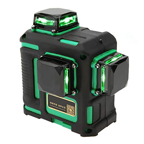 Laser Level 1pc Laser Level Grünes Licht 12-Linien-Kreuzlinien-Nivelliergerät 100V-240V(Grün)