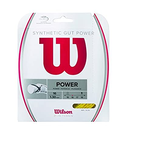 Wilson Synthetic Gut Power 40-Feet Tennis String Set, Gold, 17 by Wilson