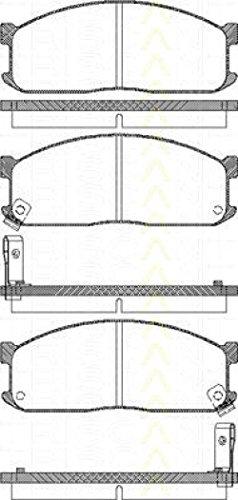 Preisvergleich Produktbild Triscan 8110 10873 Bremsbelagsatz,  Scheibenbremse - (4-teilig)