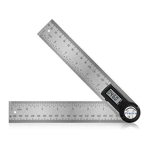 Medidor de angulos digital, Preciva medidor angulos,medición de 0-400 mm y 000.0 °-999.9 °