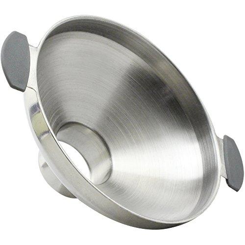 Com-Four Entonnoir en acier inoxydable avec ouverture extra large, idéal pour remplir des pots à confiture