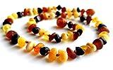 Roh Bernsteinkette Höchste Qualität Zertifiziert Authentische Baltischen Bernstein Halskette / Größe 34 cm