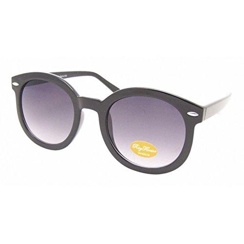 Sonnenbrille Round Wayfarer Style 400UV getönt groß lila