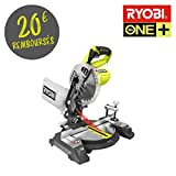 Scie à coupe d'onglets RYOBI 18 V OnePlus lame 190mm - sans batterie ni chargeur EMS190DCL