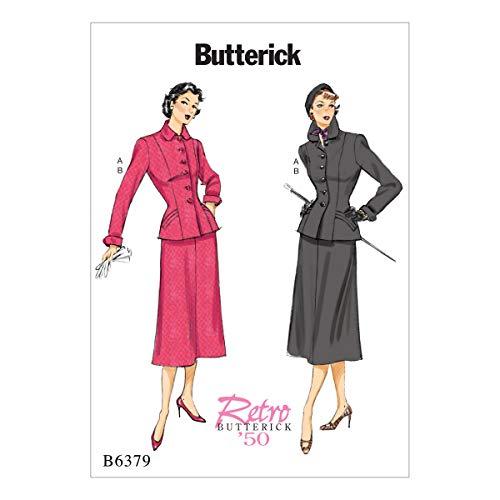 Butterick Patterns Schnittmuster/Petite Jacke und Rock, Mehrfarbig, Größen 6-14 -